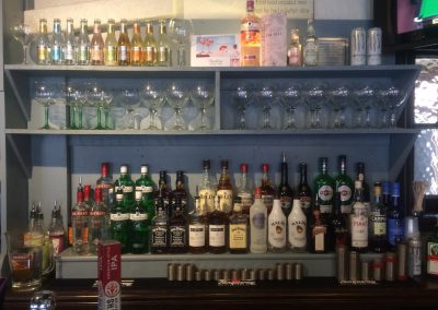 back bar spirits